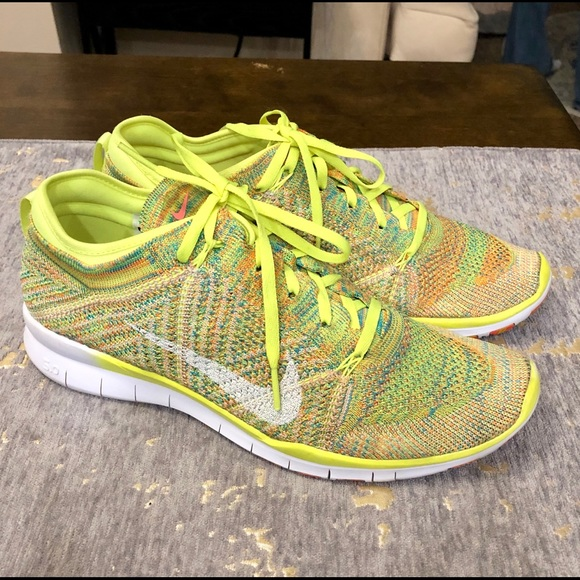 the best attitude 5181d 68e42 Nike Free Flyknit 5.0 Bright Yellow Green Size 9.5